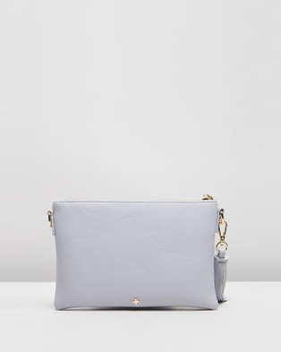 PETA AND JAIN Kourtney Cross Body Bag - Clutches (Lavender Pebble)