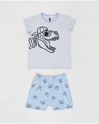 Cotton On Kids - Hudson Short Sleeve Pyjama Set - Kids-Teens
