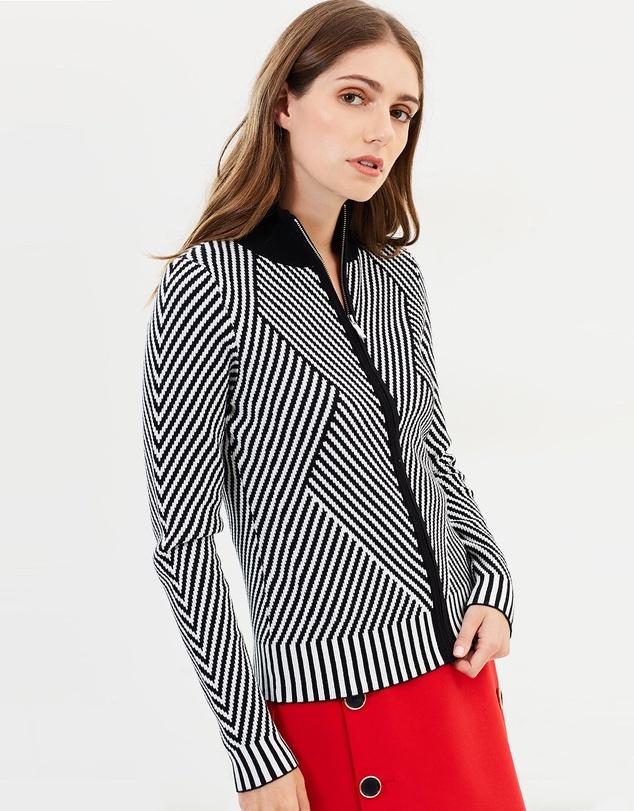 Karen Millen - Striped Knitted Cardigan