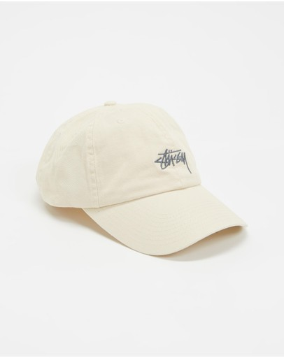 Stussy Stock Low Profile Cap Warmed White