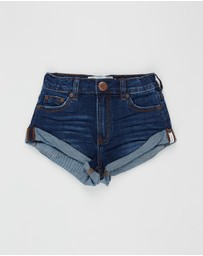 ONETEASPOON - Bandits High-Waist Denim Shorts - Teens