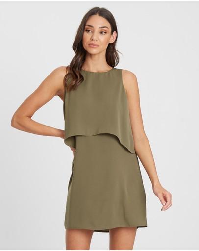 Tussah Nyla Mini Dress Khaki