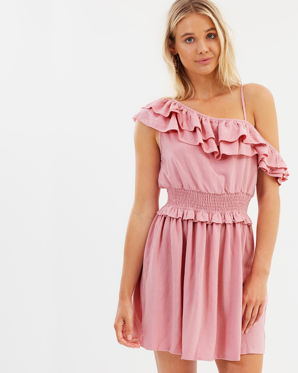 Photo of Atmos & Here Pink ICONIC EXCLUSIVE - Jacinta Frill Dress - beautiful dress from Atmos & Here online