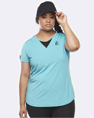 Curvy Chic Sports Zest Short Sleeve Top - Short Sleeve T-Shirts (Sea Green)