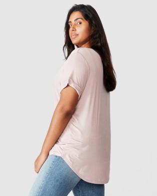 Cotton On Curve Karly Short Sleeve Tee - T-Shirts & Singlets (Dark Mauve)