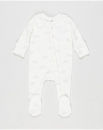 Cotton On Baby - Organic Zip-Through Romper - Babies