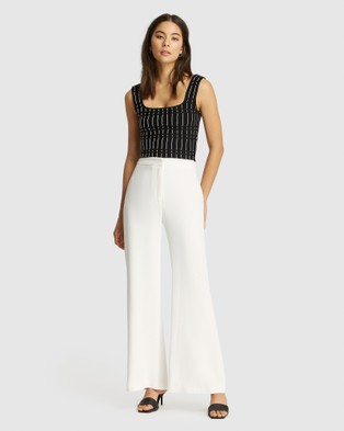 FRIEND of AUDREY Preston Wide Leg Pants - Pants (White)