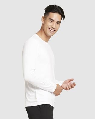 Boody Organic Bamboo Eco Wear - 4 Pack Long Sleeve Crew Neck T Shirt - Long Sleeve T-Shirts (Multi) 4 Pack Long Sleeve Crew Neck T-Shirt