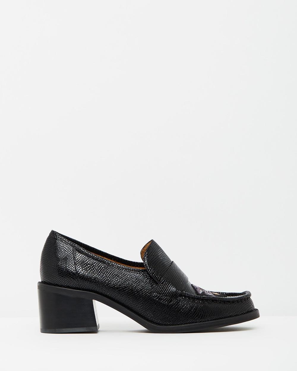 TOPSHOP Krayon Heeled Loafers Mid-low heels Black Krayon Heeled Loafers
