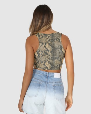 BY.DYLN Viper Top - Cropped tops (Golden Snake)