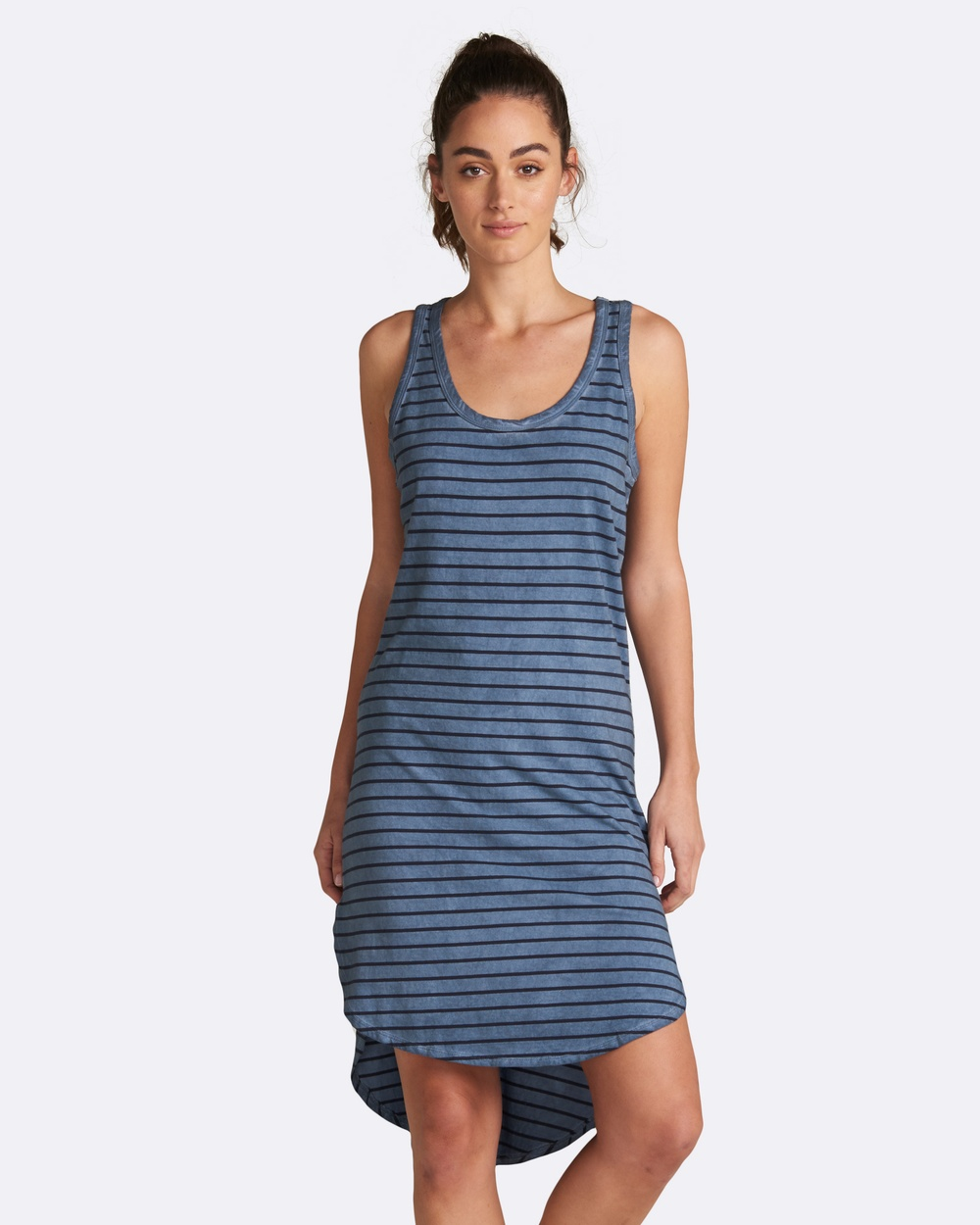 jac + mooki Polly Stripe Dress Dresses Blue Polly Stripe Dress