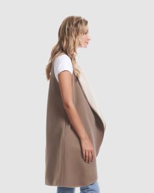 Soon Maternity - Frost Vest Coats & Jackets (IVORY)