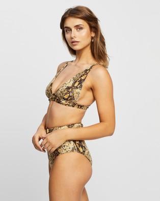 Faithfull The Brand - Palolem Top Bikini Tops (Dawn Animal Print)