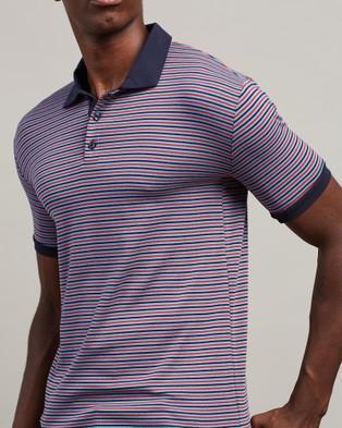 Justin Cassin Morris Stripe Polo - Shirts & Polos (Purple)
