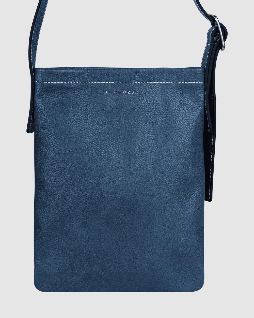 The Horse Eadie Slouch Bags Ink / Tan Australia