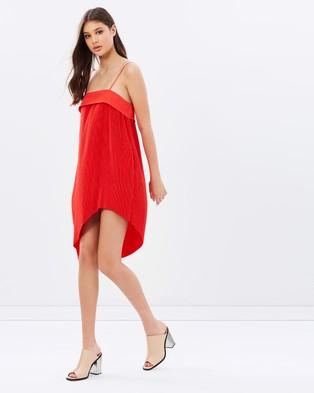 Isla – Walk the Line Mini Dress – Dresses (Red)