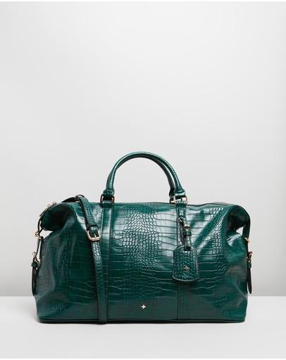Peta And Jain Reagan Weekender Bag Green Croc