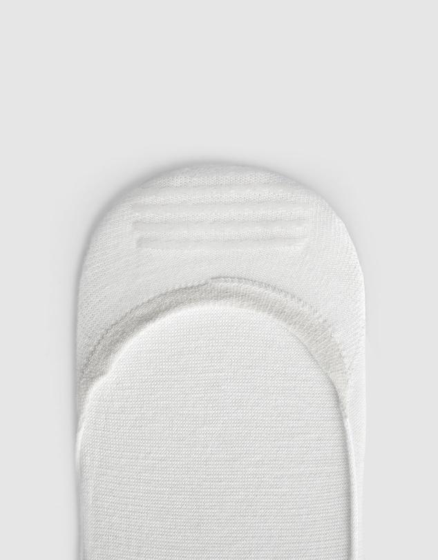 Women Pure Invis Bamboo No Show Socks 9 Pack White