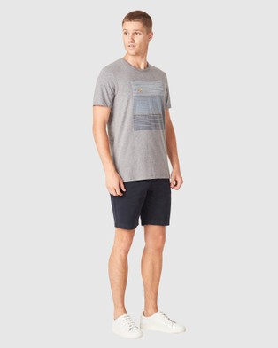French Connection Fish Block Stripe T Shirt - T-Shirts & Singlets (GREY MARL)