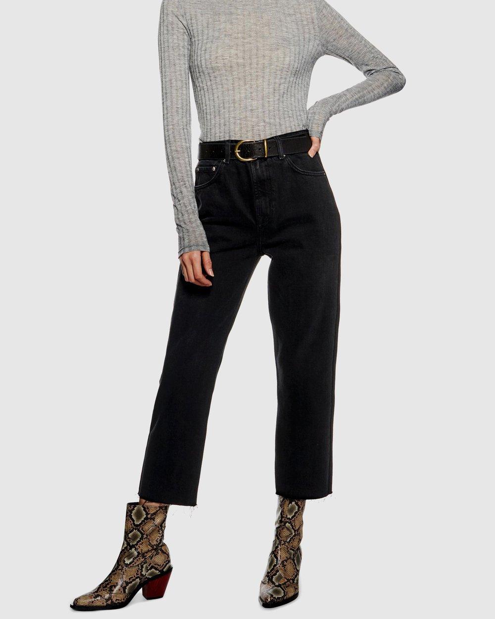 8609b052fd9 Raw Hem Straight Leg Jeans by TOPSHOP Online