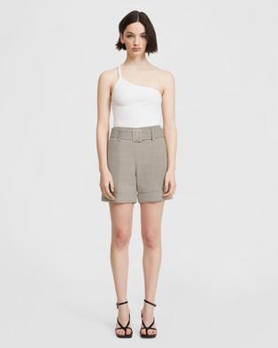 ARIS Belted Shorts Chino Beige