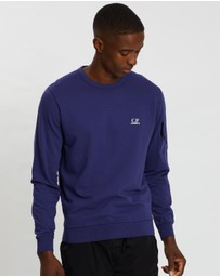 C.P. Company - Garment Dyed Light Fleece Logo Sweater