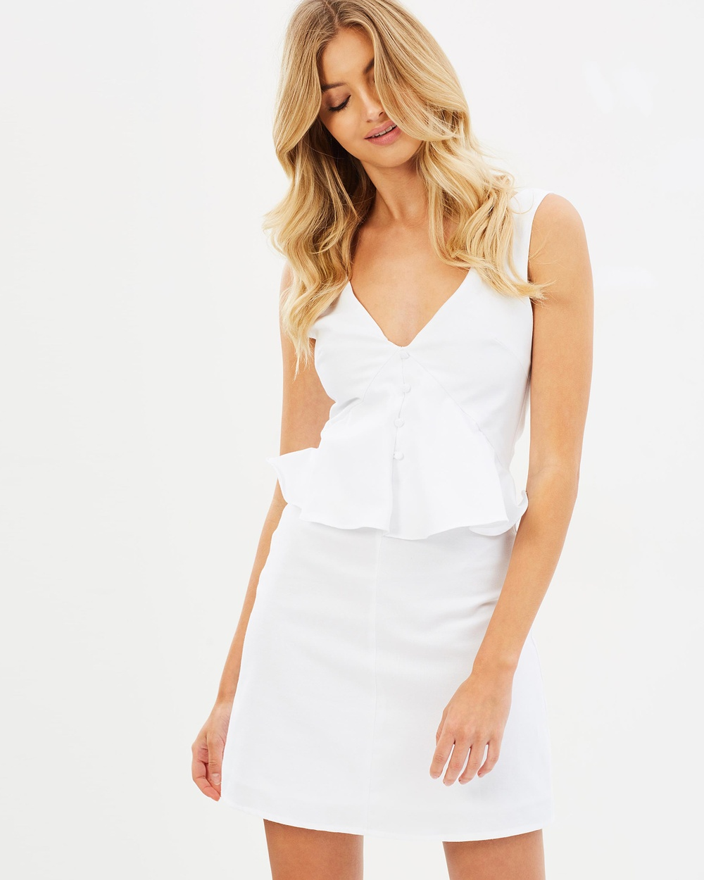 Photo of Atmos & Here White ICONIC EXCLUSIVE - Leah Mini Dress - buy Atmos & Here dresses on sale online