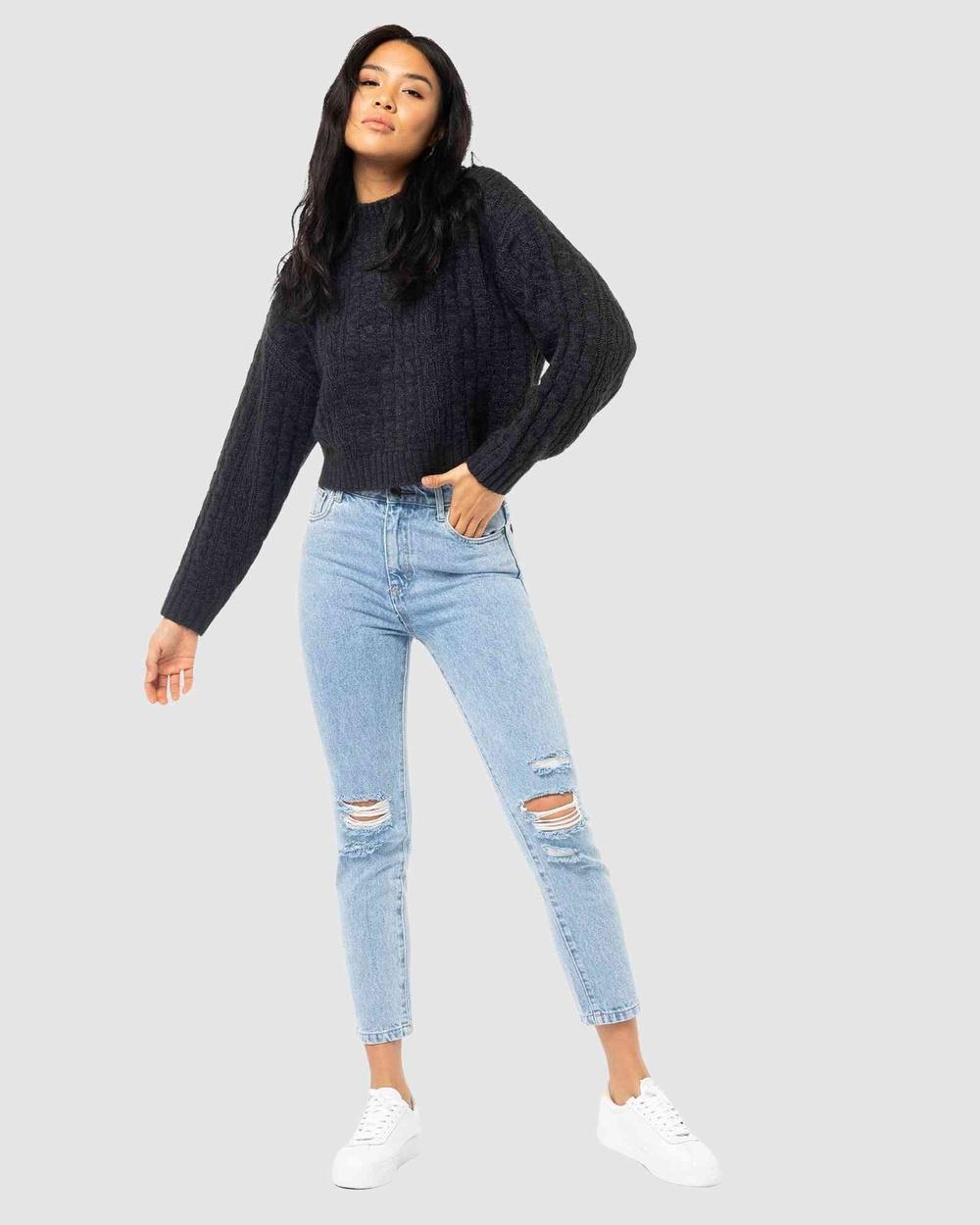 Rusty High Rise Straight Jean Jeans SYB Australia