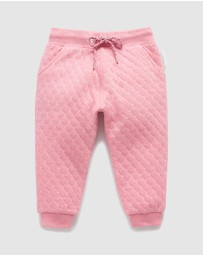 Quilted Spot Track Pants - Kids