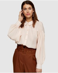 TOPSHOP - Tie Back Oversized Shirt