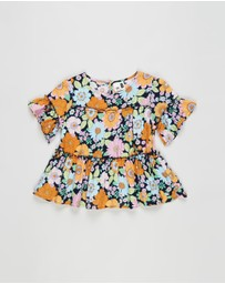 Cotton On Kids - Frede Short Sleeve Frill Top - Kids