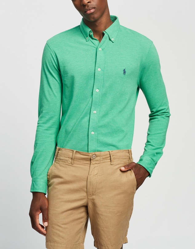 Polo Ralph Lauren - Featherweight Mesh Long Sleeve Knit Polo