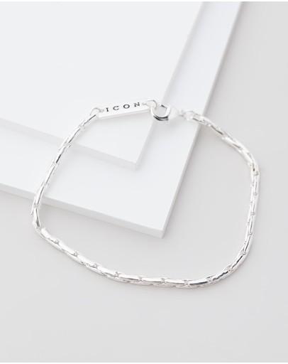 Icon Brand Entity Chain Bracelet Silver