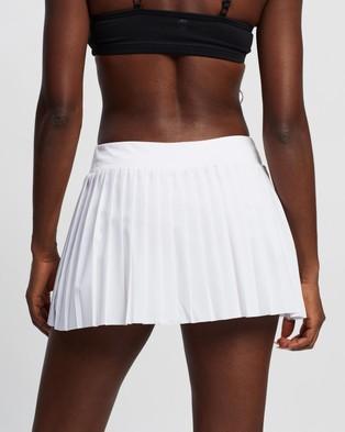ASICS Match Pleats Skort Skirts Brilliant White