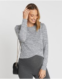 Cotton On Maternity - Maternity Cross Over Front Long Sleeve Top
