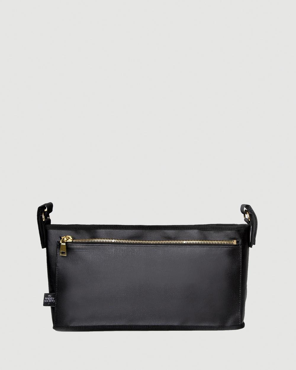The Nappy Society Pram Caddy Bags Black Australia