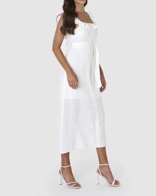 Amelius - Bohdi Linen Midi Dress - Dresses (White) Bohdi Linen Midi Dress