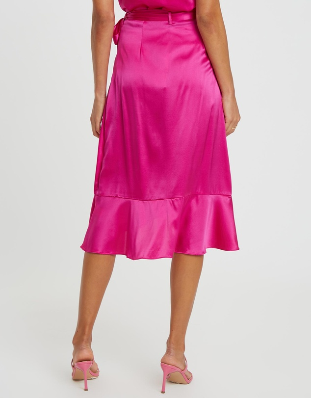 Damsel + Silk - Core Wrap Midi Skirt