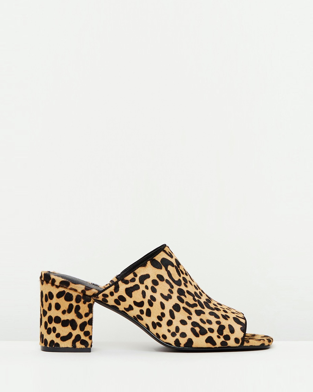 Atmos & Here ICONIC EXCLUSIVE Em Leather Mules Mid-low heels Leopard ICONIC EXCLUSIVE Em Leather Mules