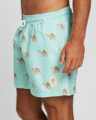 Buba & La Camel Swim Shorts - Swimwear (Mint Green)