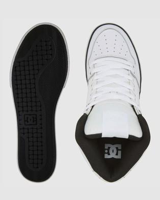 DC Shoes - Mens Pure High Hi Top Shoe Sneakers (WHITE/BLACK MONOGRAM)