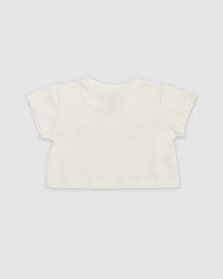 Amber Days Wirirri Amber Days Crop Tee - Short Sleeve T-Shirts (White)