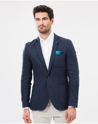 Scotch & Soda - Linen Herringbone Blazer