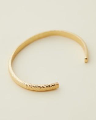Bianc Daisy Bangle Jewellery Gold Plated Brass