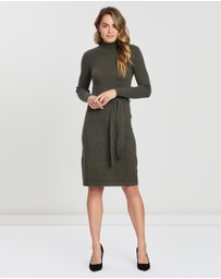 Forcast - Becky Tie-Waist Knit Dress