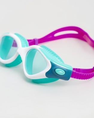 Speedo Futura Biofuse Flexiseal Goggles   Women's - Goggles (Diva, White & Peppermint)