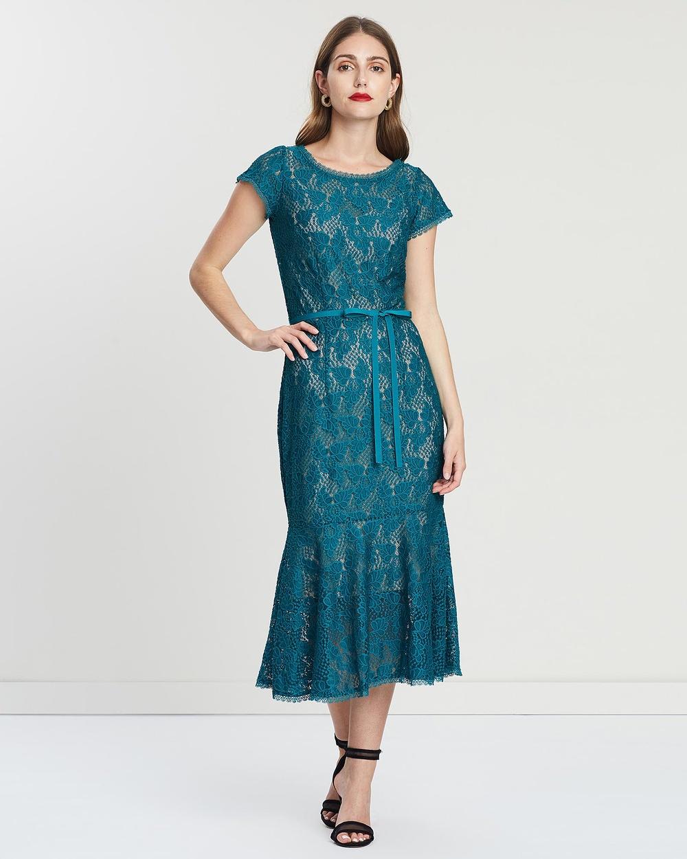 Leona Edmiston Turquoise Yasmin- Lace Dress