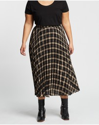 Atmos&Here Curvy - Dorset Check Pleat Skirt