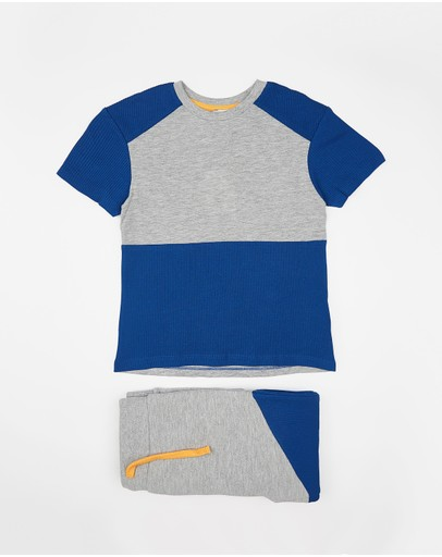 Outfit Kids - Panelled Tee & Jogger Set - Kids