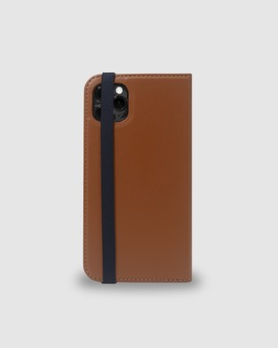 Toffee Leather Flip Wallet for iPhone 11 - Tech Accessories (Tan)